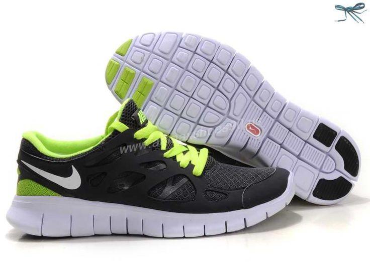 Gray Green Nike Free Run 2 443815-110 Womens