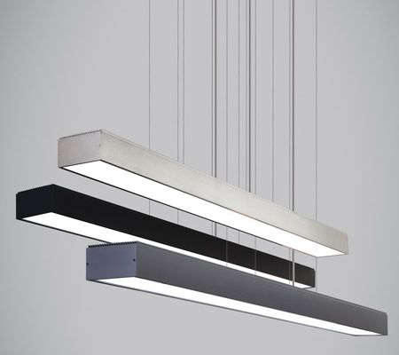 Tech Lighting Knox Linear Suspension LED 3000V 120V or  277V  Strong lines. Industrial simplicity. LED suspension fixture lets the light itself take center stage. Equally at home over a kitchen island or dining room table or in a professional setting over a conference table, lighting a desk space or welcoming guests. Incredible illumination in virtually any environment. Dimmable  - Brand Lighting Discount Lighting - Call 800-585-1285 for your best price!
