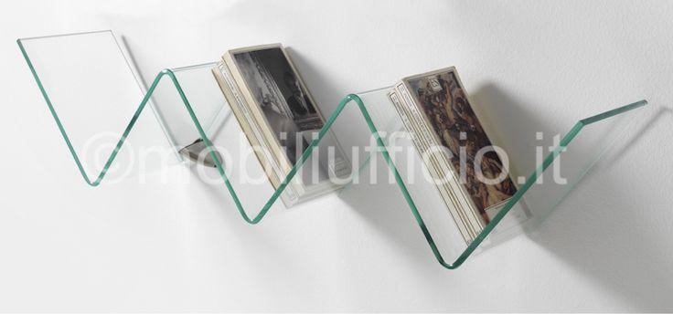 serie di #mensole in #vetro curvato per ambiente #ufficio o #casa in vendita presso mobiliufficio.it