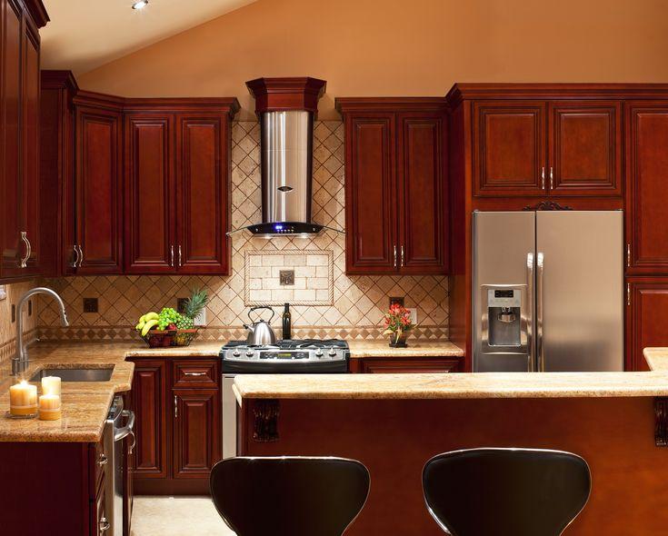 Kitchen Backsplash Ideas With Cherry Cabinets 72 best kitchens images on pinterest | dream kitchens, kitchen and