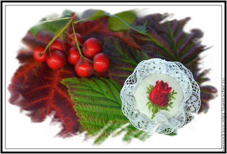 """Купить брошь """"Бутон розы"""" - белый, отличный подарок, винтажная брошь, бохо…"""