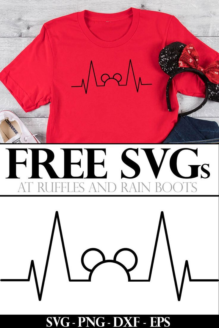 This Free Mickey Heartbeat Svg Is Perfect For Nurses Or Any Disney Fan Diy Disney Shirts Svg In A Heartbeat