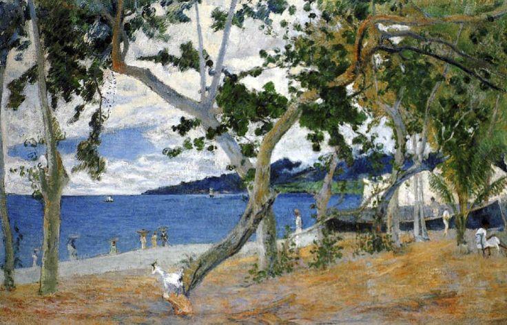 Paul Gauguin - Post Impressionism - Bord de mer - Seaside - Martinique - 1887