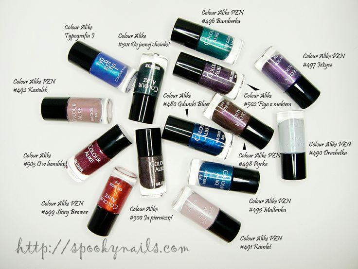 Lakierowi ulubieńcy 2013 / My favourite nail polishes 2013 - colour alike