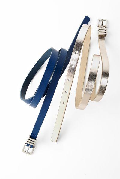 The metallic belt would look really good with jeans #ReitmansJeans #Belts