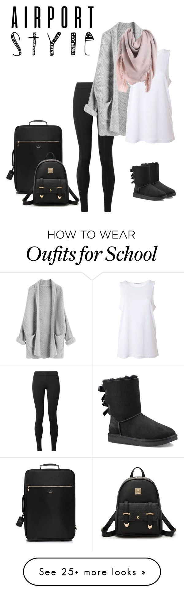 """""""Airport Fashion"""" by stylebyanaliserose on Polyvore featuring The Row, T By Alexander Wang, Kate Spade, UGG and airportstyle"""