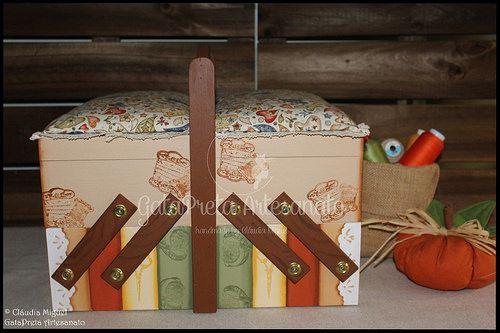"""Caixa de costura mega-large """"Pumpkin Autumn"""""""