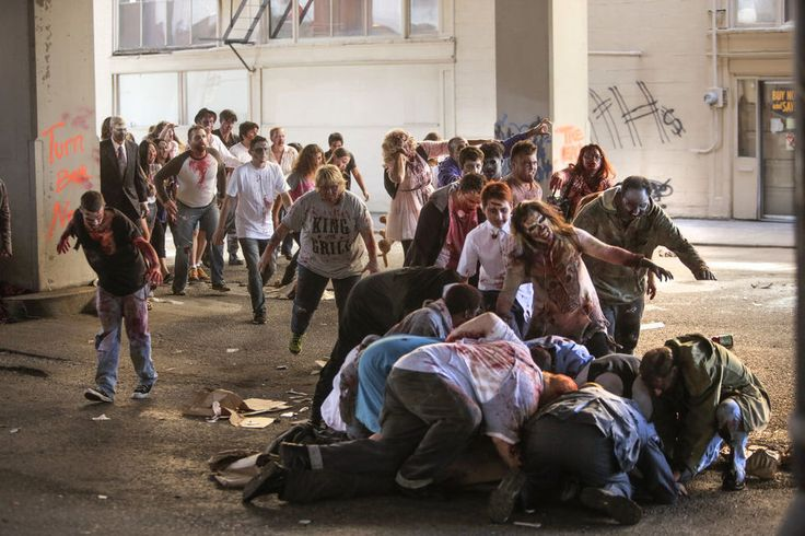 """George Romero directs """"Zombie Day Apocalypse"""" as the Portland Film Festival tries to set a Guinness World Record for the most film extras on a short film."""
