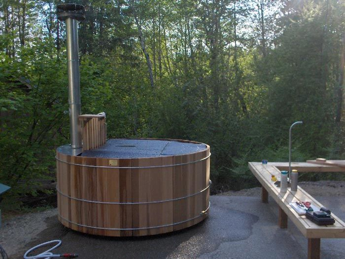 woodburning hot tub