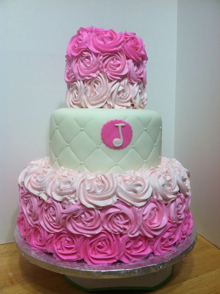 Pink rose cake Sweet Cakes by Toni Pinterest Pink ...