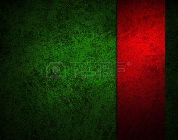 Абстрактный зеленый фон с красной лентой или полосой на боковой панели границы кадра, имеет старинные фоне гранж текстуры дизайн с освещением, элегантный фон Рождество, зеленую бумагу или обои photo