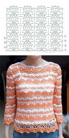 Вижу, что красивые работы крючком пряжа хранить в этой красивой блузке. Очень…