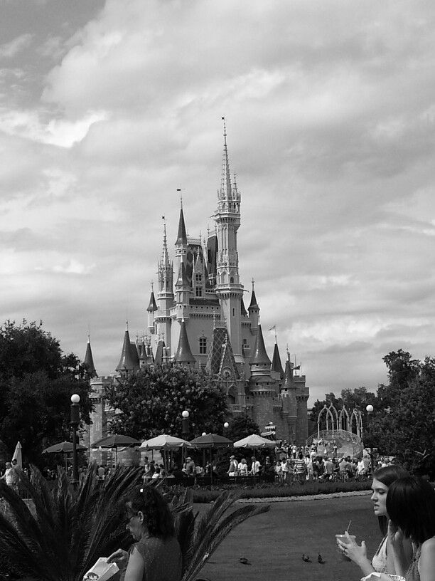 The castle in black and whiteDisney Castle Black And White