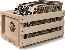 Vinyl Record Storage Crate Album Box Holder Vintage Case Records Display