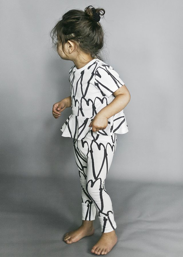 Beautiful Monochrome from Beau LOves SS17 baby girl collection I Love You Darling, available at Baby Dino here: http://www.babydino.com.au/brands/beau-loves.html