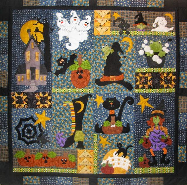 1074 best HALLOWEEN QUILTS images on Pinterest | Quilt patterns ... : halloween quilt kits - Adamdwight.com