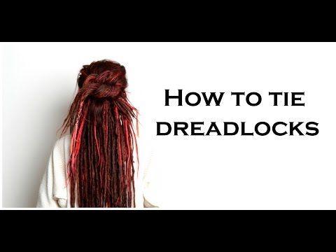 How to tie up dreadlocks