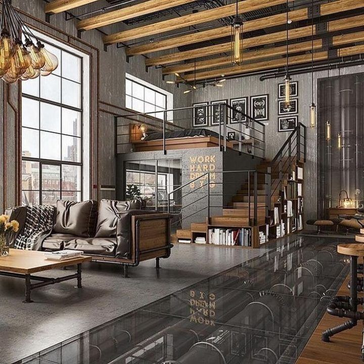 Awesome Industrial Living Room Designs Ideas 20 In 2020 Loft Inspiration Dream Living Rooms Industrial Home Design