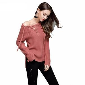 V Neck Knitted Sweater - Buzz Brands