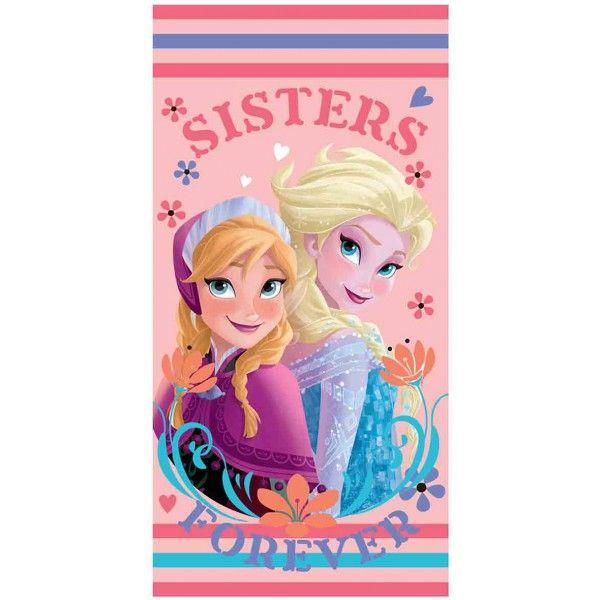 Badehåndklæde til piger med Anna & Elsa fra Disney filmen Frost