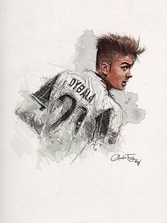 Paulo Dybala by Claudio Tosi [Mirror Walkers] #Illustration #Sport #Design #PauloDybala #Dybala #Calcio #Soccer #Football #Graphic #Action #Juve #Juventus #Bianconeri #SerieA #Art #Artwork