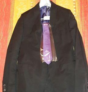 Abito Daniele Alessandrini Uomo Nero con Interno Viola Completo di Cravatta Seta   eBay