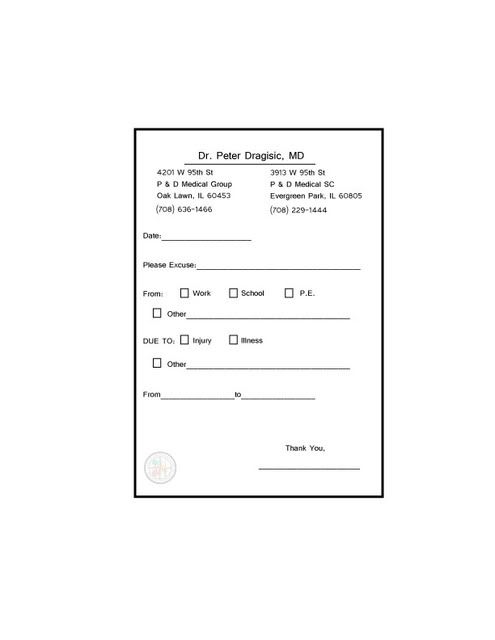 Fake Doctor's Notes Templates - Fast, & Fun!