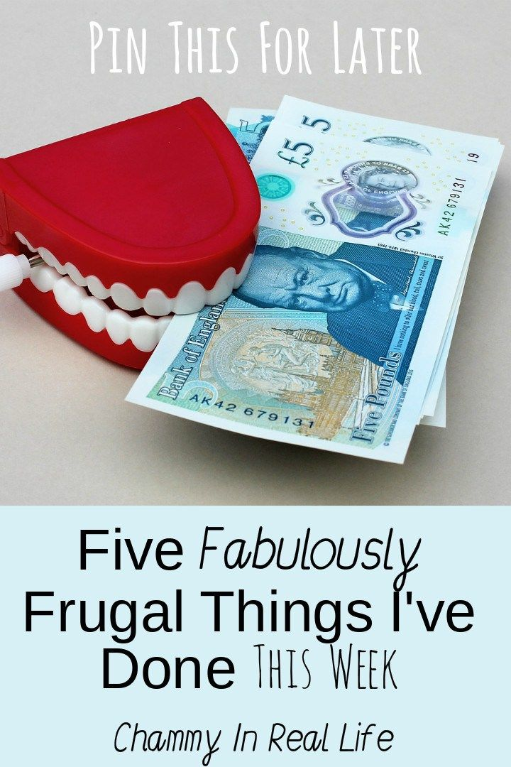 Here are five fabulously frugal things I've done this week - March 3rd 2017 - as part of an ongoing linky with other bloggers.
