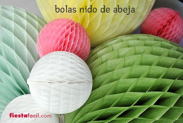 Bolas de nido de abeja para decorar fiestas de www - Bolas transparentes para decorar ...