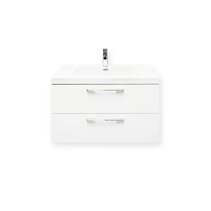 Forme 800mm White Cabin Wall Hung Vanity