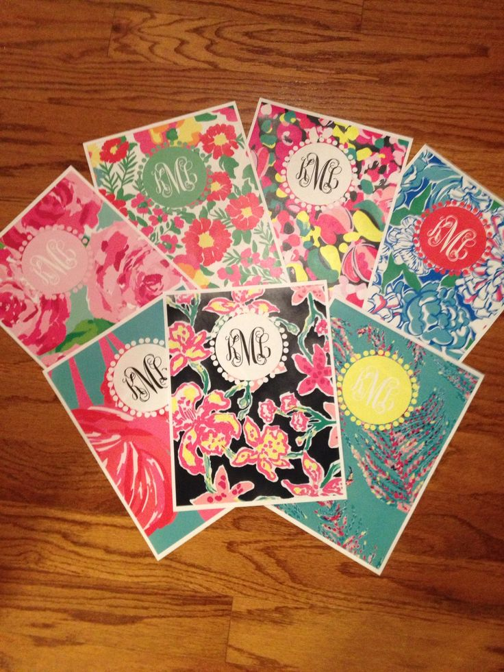 Preppy lilly monogram binder covers!! The start to any great year {from jessicamariedesign blog}