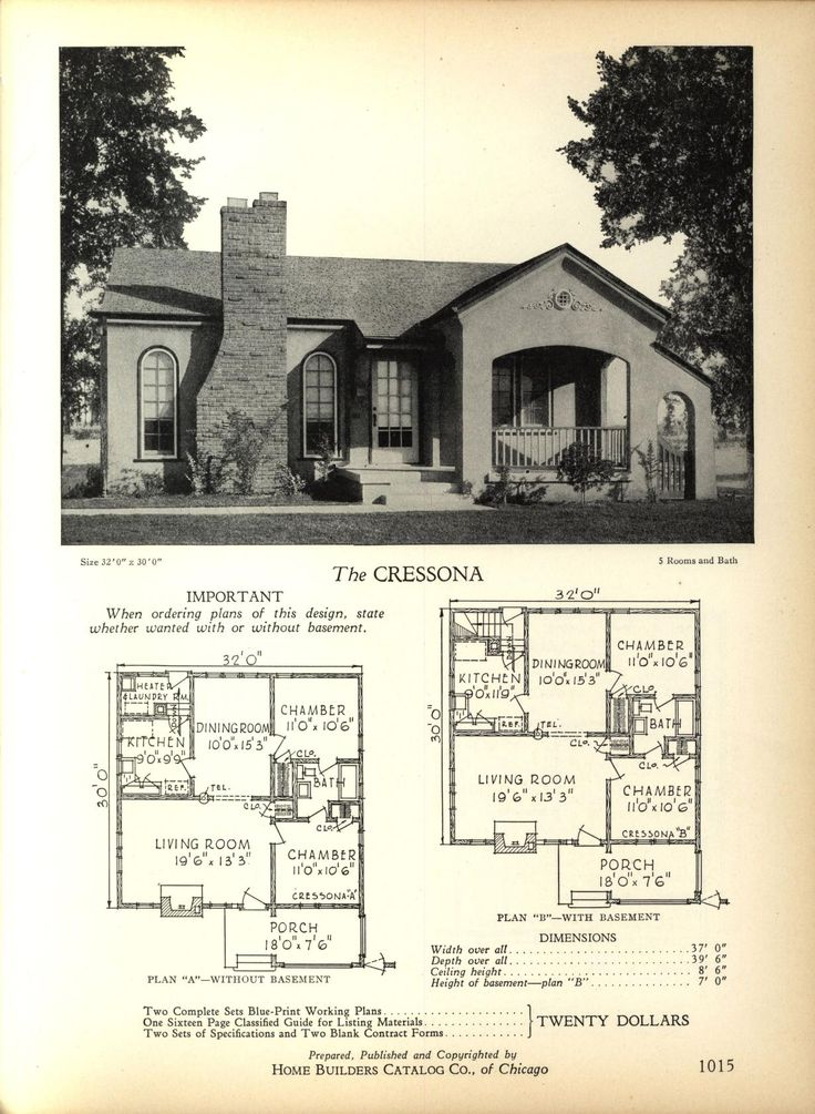 The CRESSONA Home Builders Catalog plans