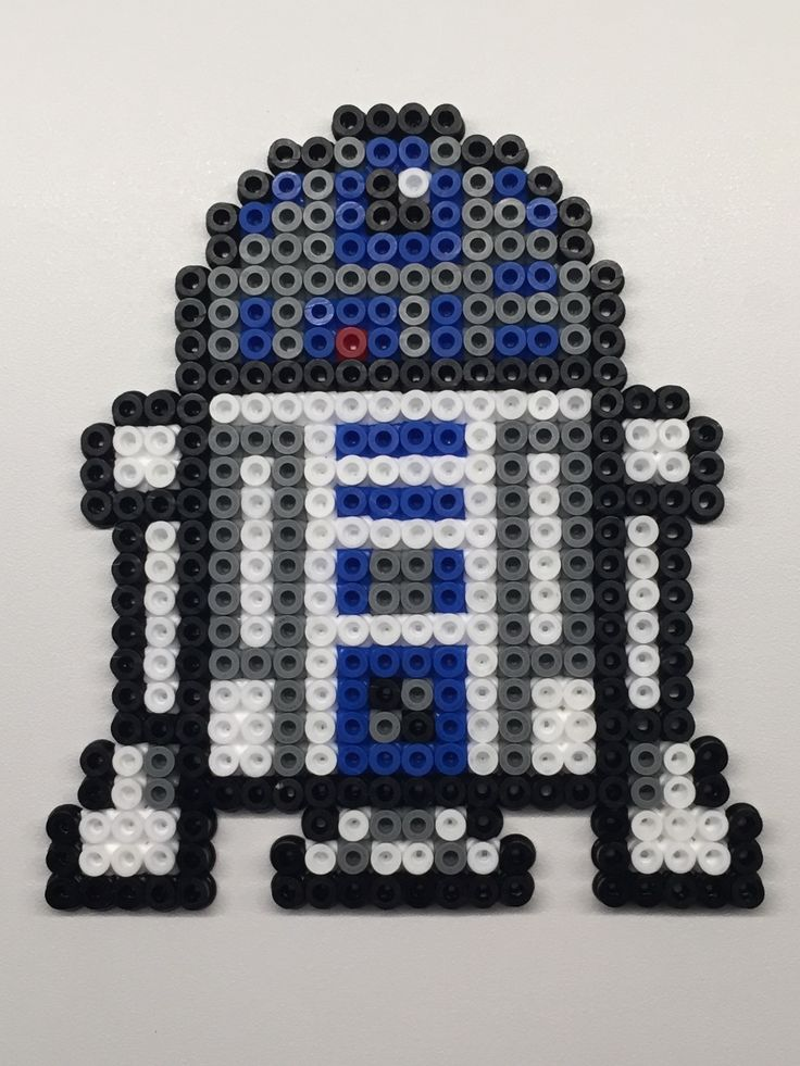Perler beads. R2D2, Star Wars.