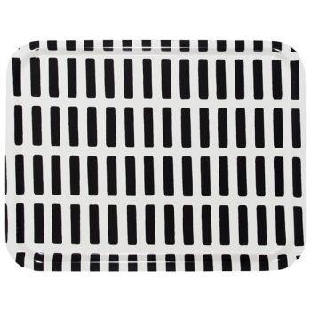 Siena tray, white-black, 43 x 33 cm