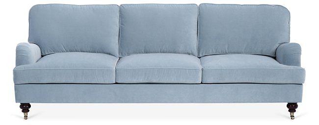 Durham 3 Seater Sofa Sky Blue Velvet Light Blue Sofa Blue Sofa Blue Velvet