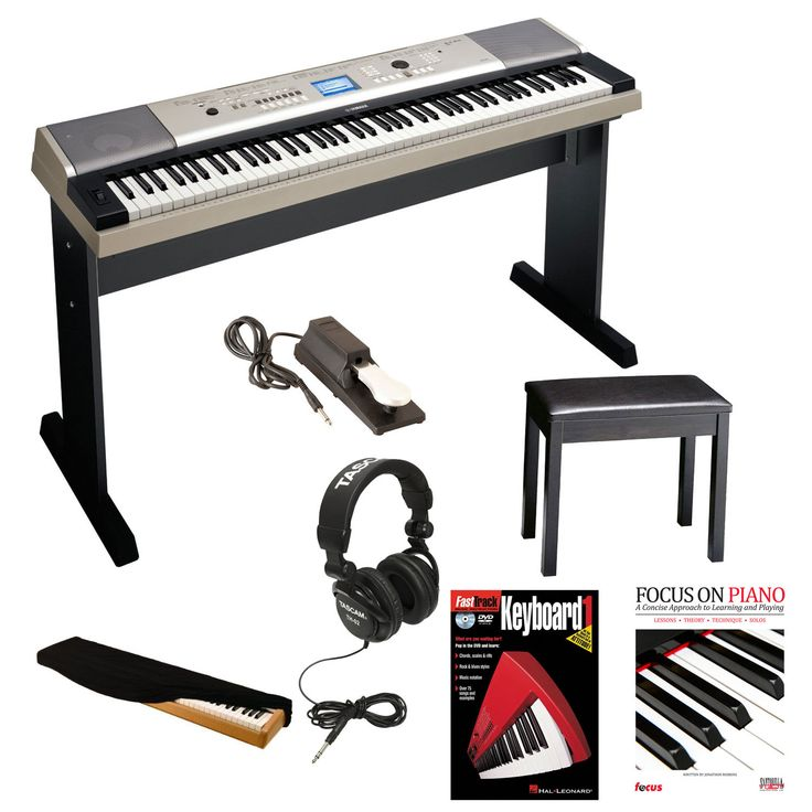 Yamaha YPG535 88 Key Piano  Bench Pedal Headphone & Dust Cover
