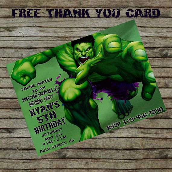 29 best images about hulk – Hulk Party Invitations