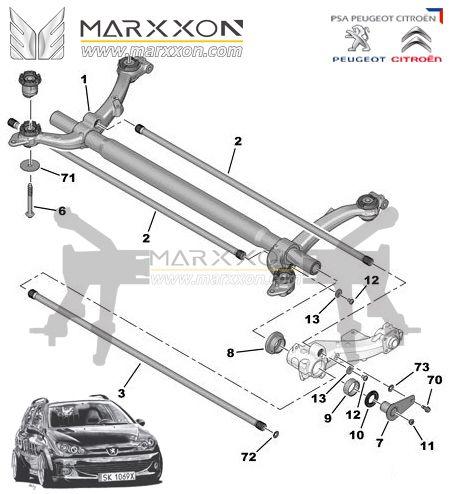 Pin de Marxxon Machinery em Peugeot Citroen rear axle