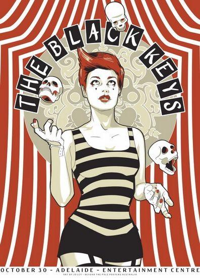The Black Keys Australia concert poster by Jo Ley