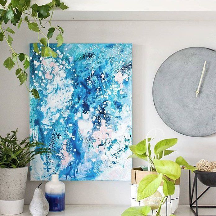 Day 98: New and featured on Bluethumb @kate.fisher.art Kate Fisher paints lovely bright abstracts and portraits!  #100DaysOfArtists #artuncovered #art #contemporaryart #Australia http://ift.tt/1TN6MFr