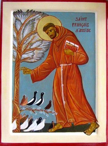 icône saint françois d'assise