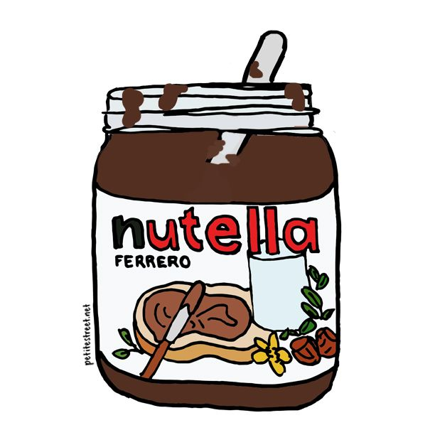 Nutella jar illustration by Tiffany Loh of Petite Street.
