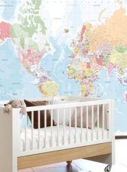 murales infantiles y juveniles mapa mundi ideas de decoracin decoracin de paredes decoracin