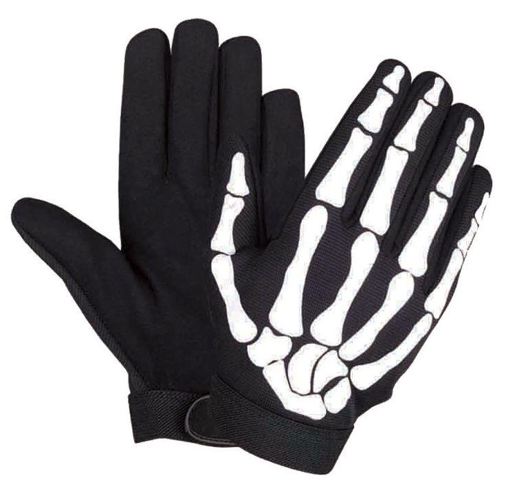 LG Skeleton Hand Bone Finger Mechanic Gloves Biker PAINTBALL CORDURA DISTRESSED