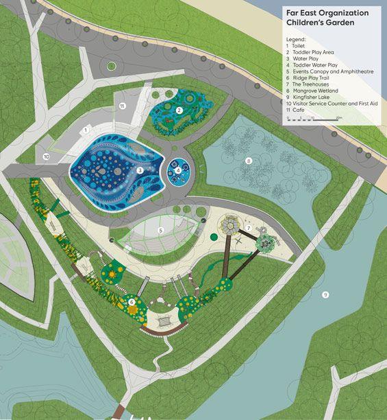 Masterplan. Far East Organization Children's Garden, Singapore's Gardens by the Bay, designed by Grant Associates.