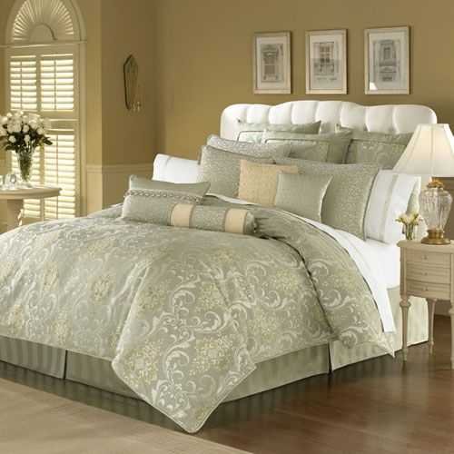 waterford venise laurel king comforter set product description the venise comforter set includes 1 king comforter 1 king bedskirt and 2 king shams - The Home Decorating Company