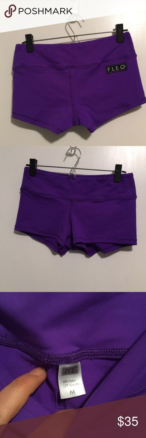 Fleo Shorts purple haze medium Worn one time. Mint condition. Currently online at full price.   Final sale. NO REFUNDS. Please ask all questions prior to purchase.  Items are sold exactly as is. Fleo Shorts