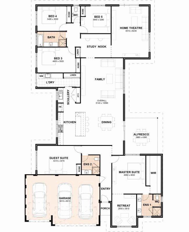 5 Bdrm House Plans Best Of Floor Plan Friday 5 Bedrooms 3 Bathrooms 3 Car Garage Floor Plan Layout Bedroom House Plans Floor Plans