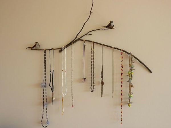 porte bijoux original arbre | La décoration en style zen mural- porte bijoux simple à faire