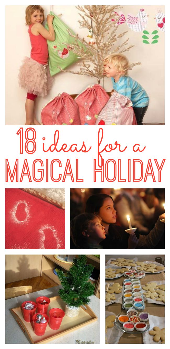 Looking to make the holidays really special for your family this year? Enjoy these 18 ideas for a magical Christmas!